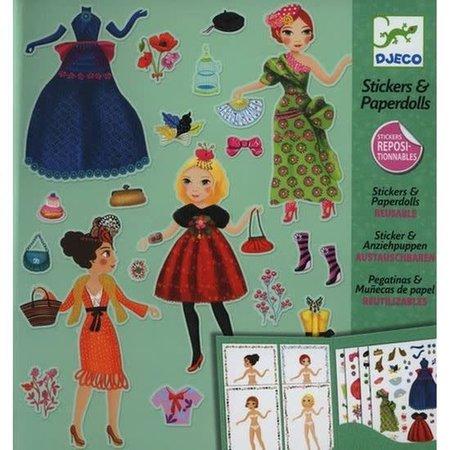 Djeco Stickers & Paperdolls: Massive Fashion