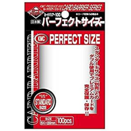 KMC Sleeves Clear KMC Perfect Size (100)