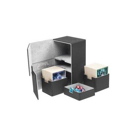 Ultimate Guard Ultimate Guard Twin Flip ́n ́Tray Deck Case Xenoskin 200+ Black