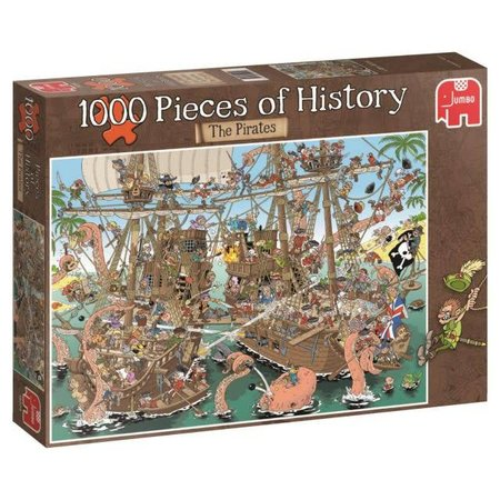 Jumbo 1000 Pieces of History Pirates (1000)