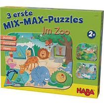 3 Eerste Mix-max Puzzles: In de Dierentuin