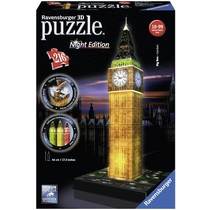 3D Puzzle: Big Ben met licht (Night Edition)