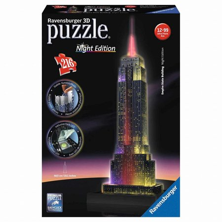 Ravensburger 3D Puzzle: Empire State Building Night Edition (216)