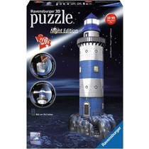 3D Puzzle: Vuurtoren Night Edition (216)