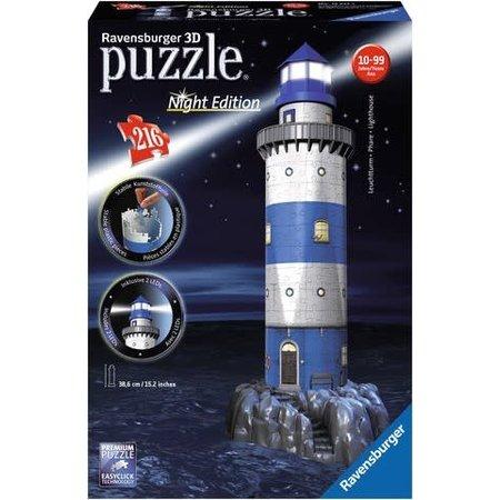Ravensburger 3D Puzzle: Vuurtoren Night Edition (216)