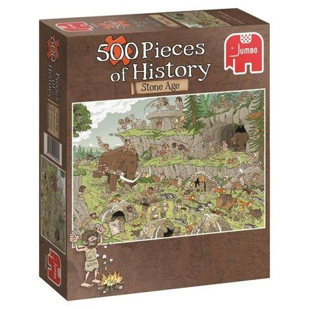Jumbo 500 Pieces of History - Stone Age (500)