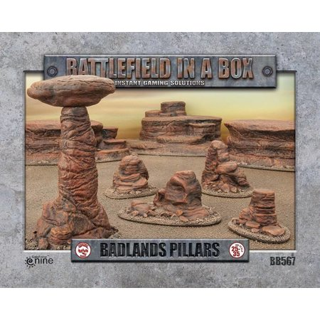 GaleForce Nine Battlefield in a Box: Badlands Pillars
