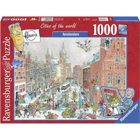 Ravensburger Frans Le Roux: Cities of the World: Amsterdam in Winter (1000)
