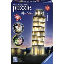 3D Puzzle: De Toren van Pisa Night Edition