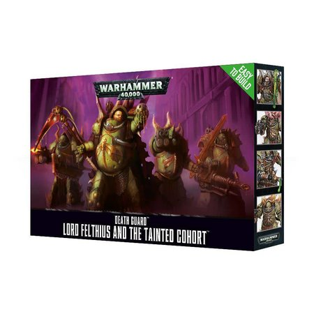 Games Workshop Warhammer 40,000 Chaos Heretic Astartes Death Guard: Lord Felthius and the Tainted Cohort (Easy to Build)