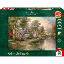 Thomas Kinkade: Hometown lake (1500)