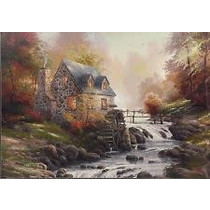 Thomas Kinkade: Cobblestone Mill(1000)