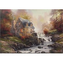 Thomas Kinkade: Cobblestone Mill(1000)
