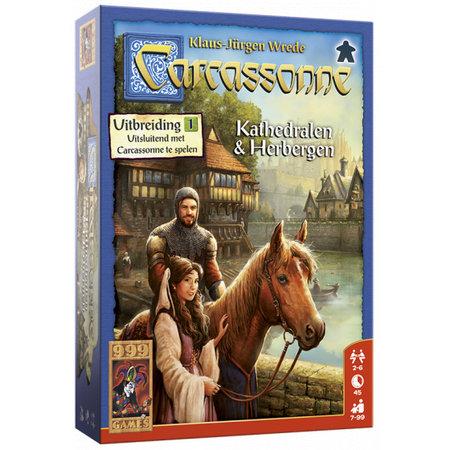 999-Games Carcassonne Kathedralen en Herbergen - Uitbreiding