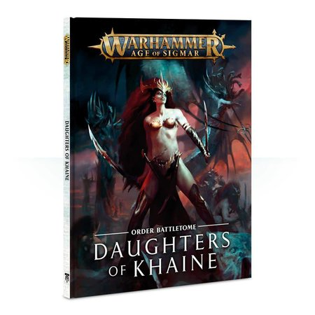 Games Workshop Age of Sigmar 2nd Edition Rulebook Order Battletome: Daughters of Khaine (HC)
