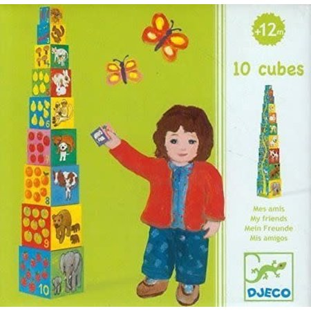 Djeco Cubes for Infants - 10 My Friendly Blocks