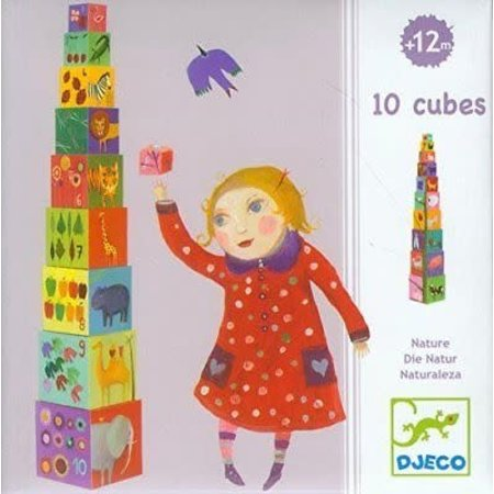 Djeco Cubes for infants 10 nature