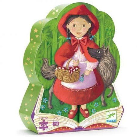 Djeco Silhouette Puzzle - Little Red Riding Hood - 36pcs