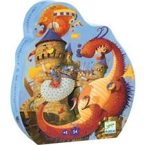 Silhouette Puzzle - Vaillant & The Dragon