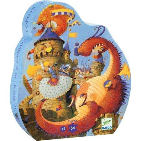 Djeco Silhouette Puzzle - Vaillant & The Dragon