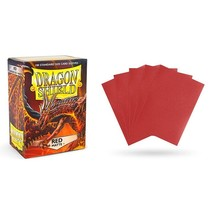 Dragon Shield Sleeves: Matte Red