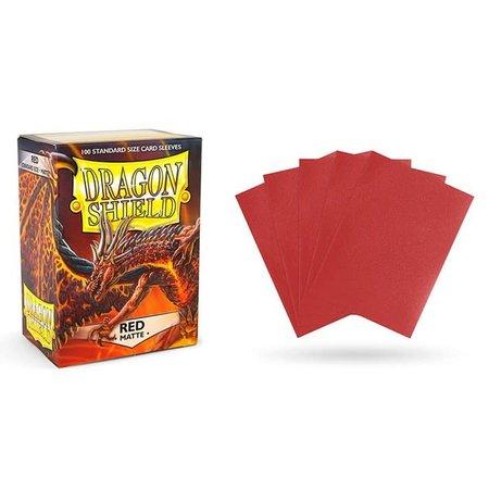 Arcane Tinman Dragon Shield Sleeves: Matte Red
