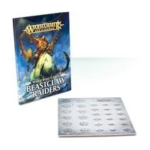 Age of Sigmar 2nd Edition Warscroll Cards Destruction: Beastclaw Raiders