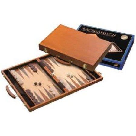 Philos Backgammon Koffer Berkenhout ingelegd 46x30 cm.