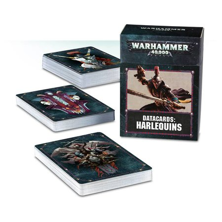 Games Workshop Warhammer 40,000 8th Edition Datacards Xenos: Aeldari Harlequins