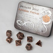 Dragon Dice Antique Copper Meral RPG Dice Set