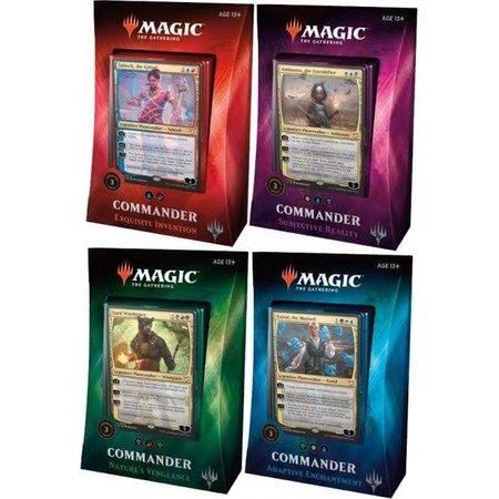 Wizards of the Coast Magic the Gathering Commander 2018 Dobbelsteen Bundel:  4 Preconstructed Decks