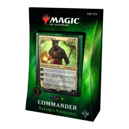 Wizards of the Coast Magic: the Gathering Commander 2018 Nature's Vengeance Deck (BRG, Lord Windgrace)