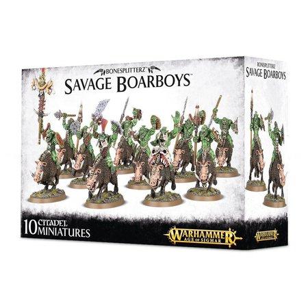 Games Workshop Age of Sigmar Orruks Bonesplitterz: Savage Boarboys/Boarboy Maniaks