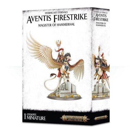 Games Workshop Age of Sigmar Celestials Stormcast Eternals: Lord-Arcanum on Tauralon/Aventis Firestrike, Magister of Hammerhal