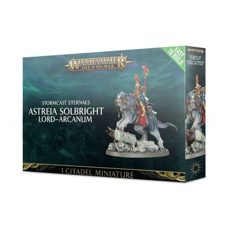 Games Workshop Age of Sigmar Celestials Stormcast Eternals: Astreia Solbright, Lord-Arcanum (Easy to Build)