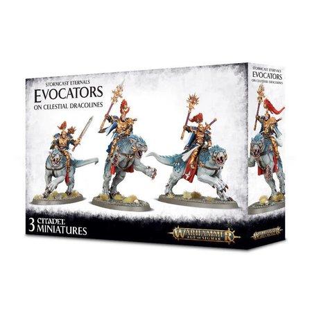 Games Workshop Age of Sigmar Celestials Stormcast Eternals: Evocators on Celestial Dracolines