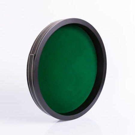 HOT games Dobbelpiste 28cm zwart MDF - Groen velours
