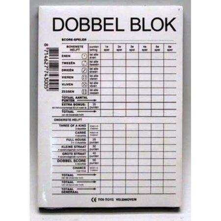 HOT games Scoreblok Yahtzee dobbelblok