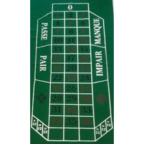 Roulette kleed 180x90cm groen vilt China**