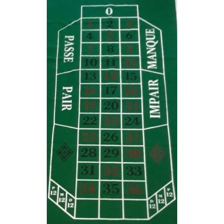 HOT games Roulette kleed 180x90cm groen vilt China**