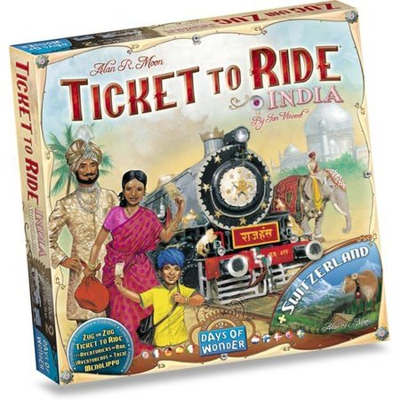 Days of Wonder Ticket to Ride: India/Zwitserland uitbreiding