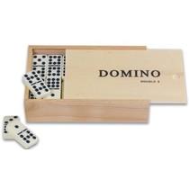 Domino Dubbel 9 met pen/wit stenen kist