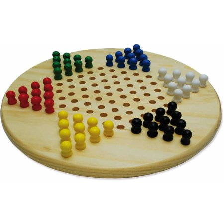 HOT games Halma-ster hout 28cm m.gekl.houten penn