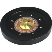 Roulette Bak 36 Cm. zwart hout MDF/metaal
