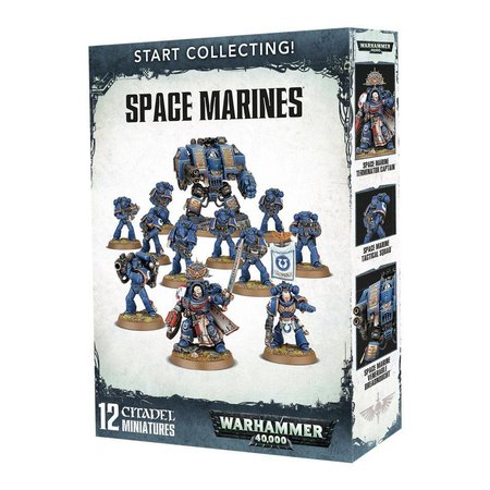 Games Workshop Warhammer 40,000 Imperium Adeptus Astartes Space Marines Start Collecting Set