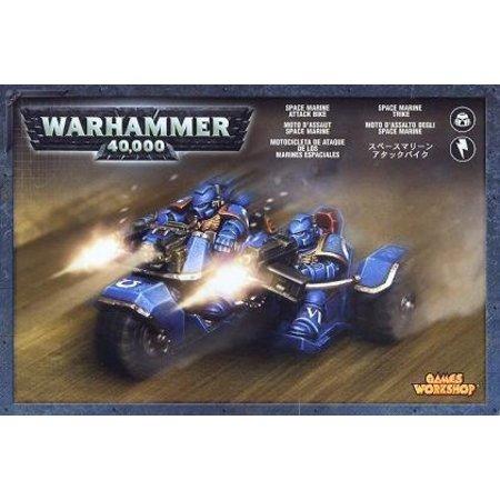 Games Workshop Warhammer 40,000 Imperium Adeptus Astartes Space Marines: Attack Bike (Mk2)