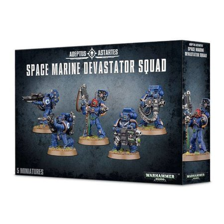 Games Workshop Warhammer 40,000 Imperium Adeptus Astartes Space Marines: Space Marine Devastator Squad