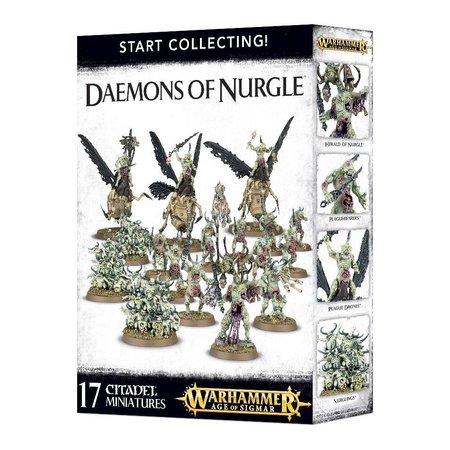 Games Workshop Age of Sigmar/Warhammer 40,000 Daemons of Nurgle Start Collecting Set