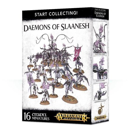 Games Workshop Age of Sigmar/Warhammer 40,000 Daemons of Slaanesh Start Collecting Set