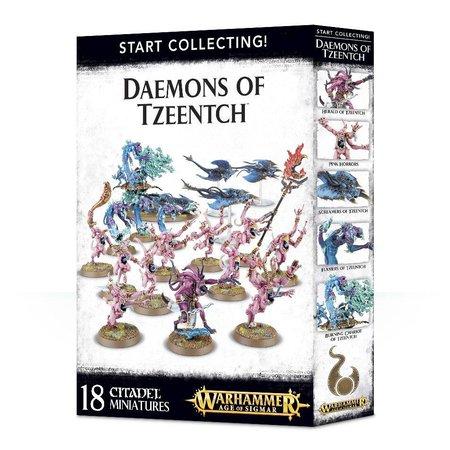 Games Workshop Age of Sigmar/Warhammer 40,000 Daemons of Tzeentch Start Collecting Set